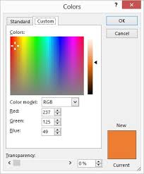 rgb values for automatic colors microsoft excel