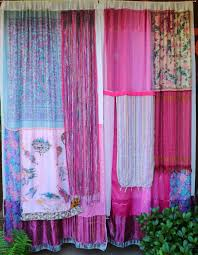 Pink Hanging Door Beads by Interior Romantic Hippie Curtains For Hippie Room Decorating