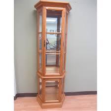Curio Cabinet Roxton Maple Curio Cabinet