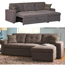 Sofabed With Chaise Coaster Gus Charcoal Chenille Upholstery Small Sectional Storage