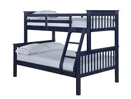 LPD Otto Otto Triple Sleeper Navy Blue Bunk Bed Bedsdirectuknet - Navy bunk beds