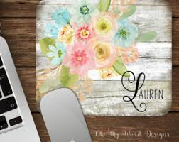 Shabby Chic Office Accessories by Shabby Chic Mousepad Etsy