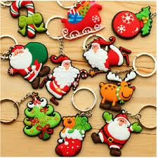 santa claus christmas custom pvc soft keychain christmas tree