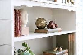 chic vintage book shelf with slid door in white no 536
