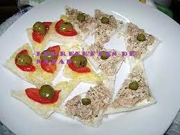 canap au thon recette de canapés thon estragon tomate olive