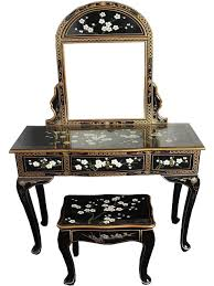 Oriental Sofa Table by Oriental Chinese Furniture Blossom Dressing Table Set With Mirror