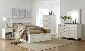 Bedroom White Furniture Ellsworth King Storage Bed White Levin Furniture