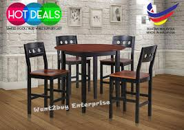 solid wood pub table becky 4 wood high bar chair 1 bar end 11 22 2018 2 15 am