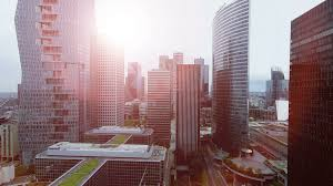 Modern City Economy Growth Concept Background Of Modern City Business District