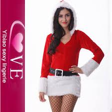 two piece set christmas fashion santa claus costume for girls