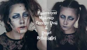 halloween makeup creepy doll dead schoolgirl youtube