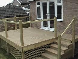 Decking Ideas For Sloping Garden Low Maintenance Gardens With Oak Style Non Slip Low Zero