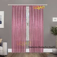 Pink Sparkle Curtains 2pcs Sequin Backdrop Curtain 3x8ft Shimmer Pink Gold Sequin