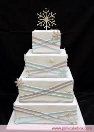 winter wedding cakes winter square wedding cake wedding cakes