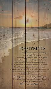 footprints in the sand gifts footprints in the sand 24 x 14 wood pallet
