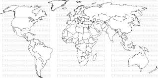 Outline World Map by World Map World Countries Map Svg Png Jpg Vector Graphic Clip Art