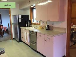 christine gives her pink 1962 lyon kitchen some retro tlc