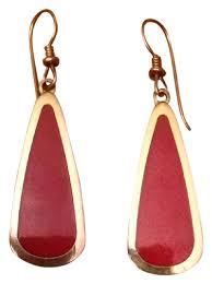laurel burch earrings laurel burch gold drop earrings tradesy