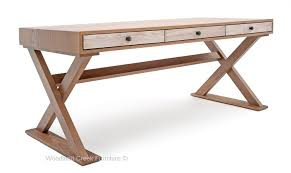Modern Desks With Drawers Small Desk Custom Sizes Eclectic Modern Chic Wood Desk X Base