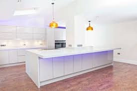 kitchen amazing kitchen table with led and white color cabinets