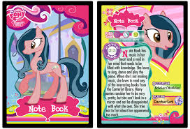 note book my little pony trading card by shira yuri on deviantart