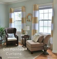 Gold Striped Curtains Diy Painted Curtains Sand And Sisal
