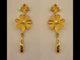 gold ear rings light weight gold earrings jewelry designs gold