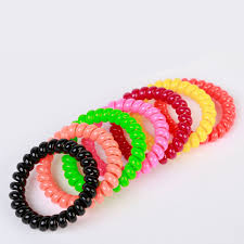 ponytail holder bracelet 10pc bands girl rubber hair ties elastic hair band rope