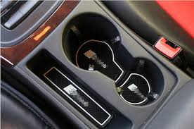 audi cup holder 9pcs top interior gate slot mat cup holder pad rubber for audi a4