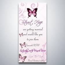 wedding invitation linen card blue butterflies swirls magnet
