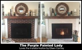 How To Cover Brick Fireplace by Paint Your Fireplace Mantle Or Surround With Chalk Paint The