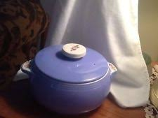 s superior quality kitchenware parade vintage parade pottery blue covered casserole with lid