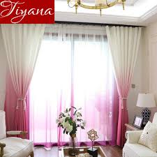 Rose Colored Curtains Aliexpress Com Buy Rose Red Curtains Gradient Color Print Sheer