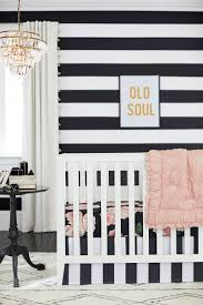 Hot Pink And Black Crib Bedding by Emily U0026 Meritt U0027s Bed Of Roses Nursery Is Black White And Blush