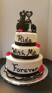 bling and motorcycles wedding cake cakes by frosted insanity