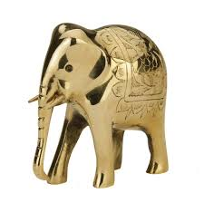 Elephant Statue Buy Etched Brass Elephant Statue Online Oxfam Shop