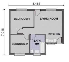 Stunning Two Bedroom House Plans Images Home Design Ideas