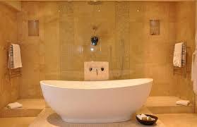 bathroom bathroom black porcelain stand alone soaking tub and