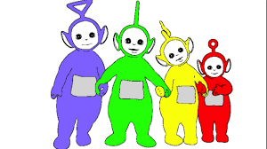 learn colours children teletubbies colouring pages