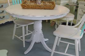 round distressed end table distressed dining table diy in considerable rustic farmhouse kitchen