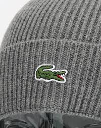 lacoste bureau 302 found lacoste lacoste turn up ribbed wool beanie galaxite chine s hat