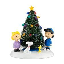 amazon com peanuts village from department 56 o u0027 christmas tree