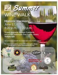Wapiti Ridge Wine Cellars - summer wine walk in historic harmony events visit butler