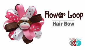 flower bow how to make a flower loop hair bow theribbonretreat