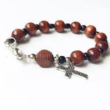 wooden rosary wooden rosary bracelet