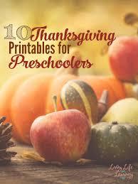 top 10 thanksgiving printables for preschoolers