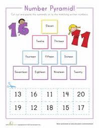 numbers in words 1 20 printable worksheets pinterest numbers