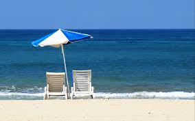 Chairs On A Beach Free Water Wallpapers