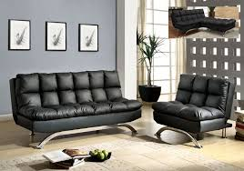 futon pillows black leather futon sofa bed chair set plush pillow top