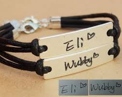 personalized bracelets for couples name bracelet name bracelet personalized written